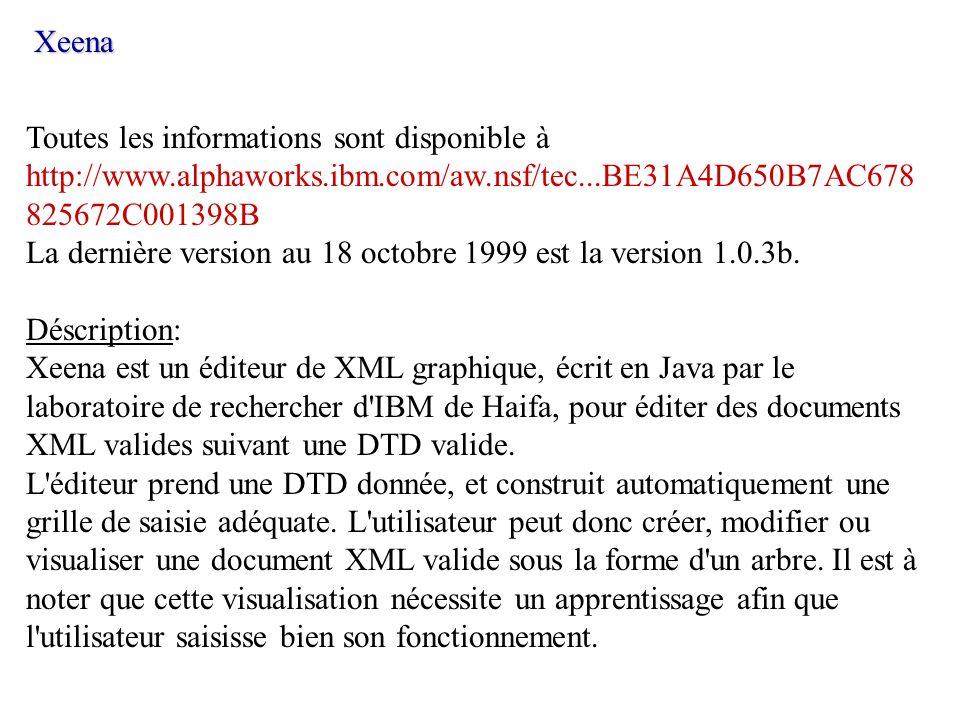 Toutes les informations sont disponible à http://www.alphaworks.ibm.com/aw.nsf/tec...BE31A4D650B7AC678 825672C001398B La dernière version au 18 octobr