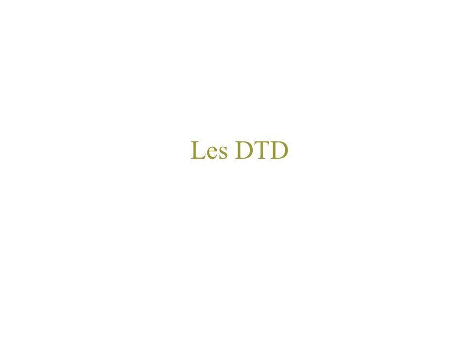 Les DTD