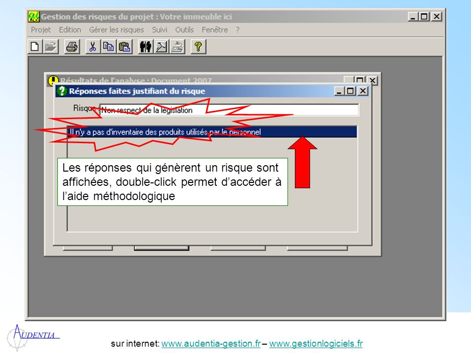http://www.accompagnement-info.com/ sur internet: www.audentia-gestion.fr – www.gestionlogiciels.frwww.audentia-gestion.frwww.gestionlogiciels.fr Les