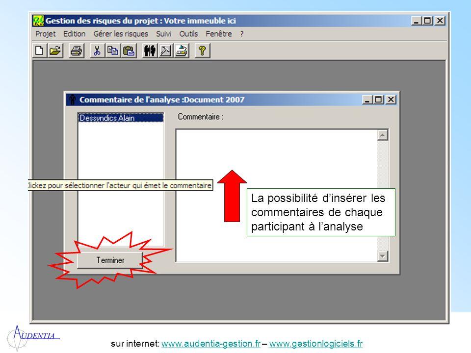 http://www.accompagnement-info.com/ sur internet: www.audentia-gestion.fr – www.gestionlogiciels.frwww.audentia-gestion.frwww.gestionlogiciels.fr La p