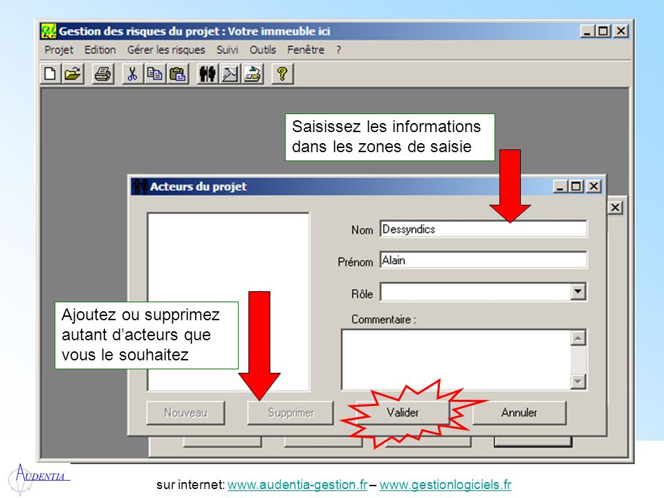 http://www.accompagnement-info.com/ sur internet: www.audentia-gestion.fr – www.gestionlogiciels.frwww.audentia-gestion.frwww.gestionlogiciels.fr Créer une nouvelle analyse