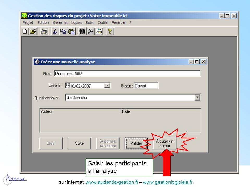 http://www.accompagnement-info.com/ sur internet: www.audentia-gestion.fr – www.gestionlogiciels.frwww.audentia-gestion.frwww.gestionlogiciels.fr Répondre aux questions