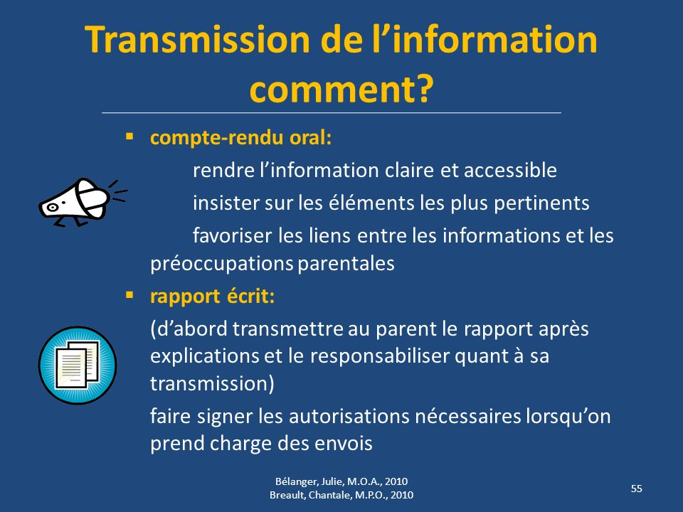 Transmission de linformation comment.