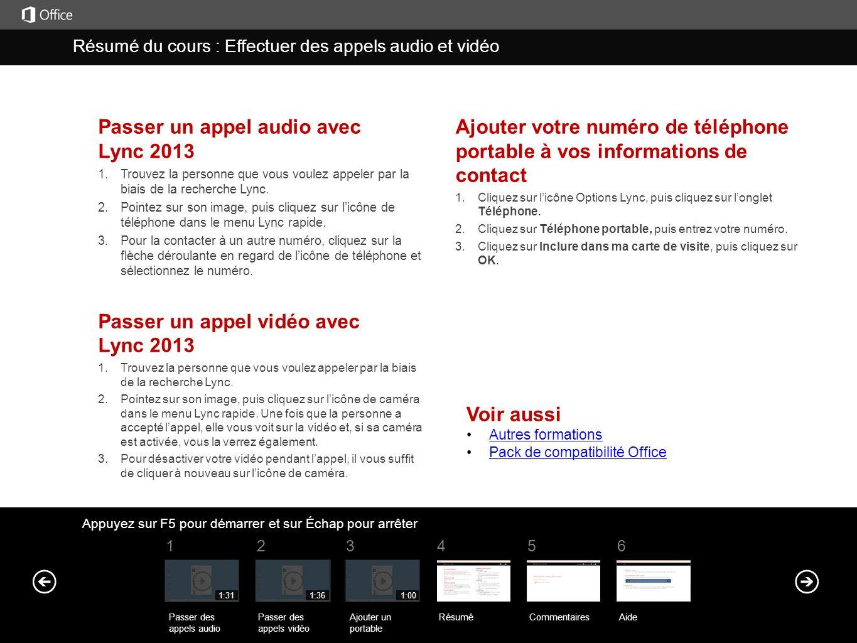 Passer un appel audio avec Lync 2013 1. Trouvez la personne que vous voulez appeler par la biais de la recherche Lync. 2. Pointez sur son image, puis