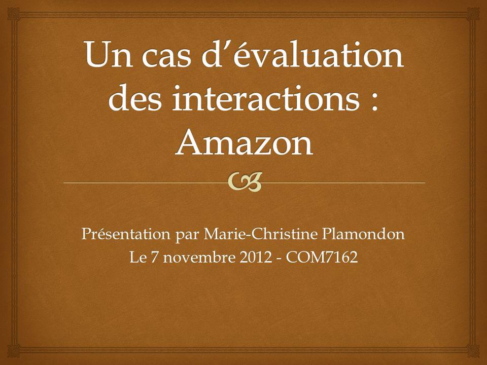 Présentation par Marie-Christine Plamondon Le 7 novembre 2012 - COM7162