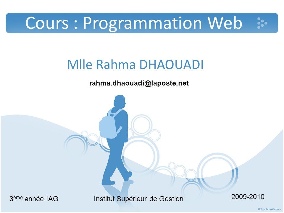 Les pré-requis Langage HTML Les notions de base de la programmation objet Architecture client serveur Base de données 2