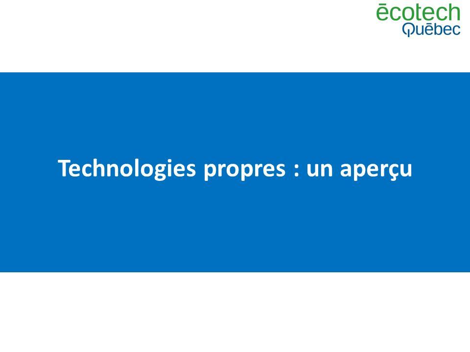 Technologies propres : un aperçu