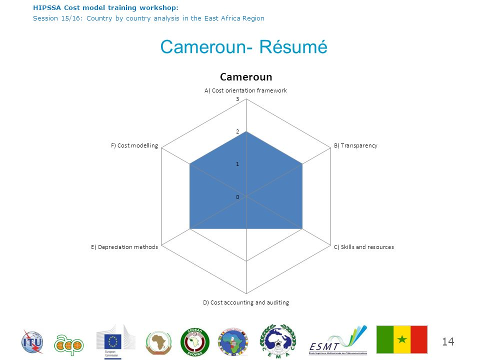 HIPSSA Cost model training workshop: Session 15/16: Country by country analysis in the East Africa Region Cameroun- Résumé 14