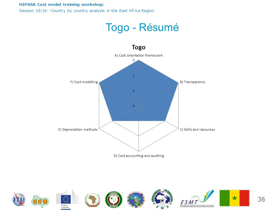 HIPSSA Cost model training workshop: Session 15/16: Country by country analysis in the East Africa Region Togo - Résumé 36