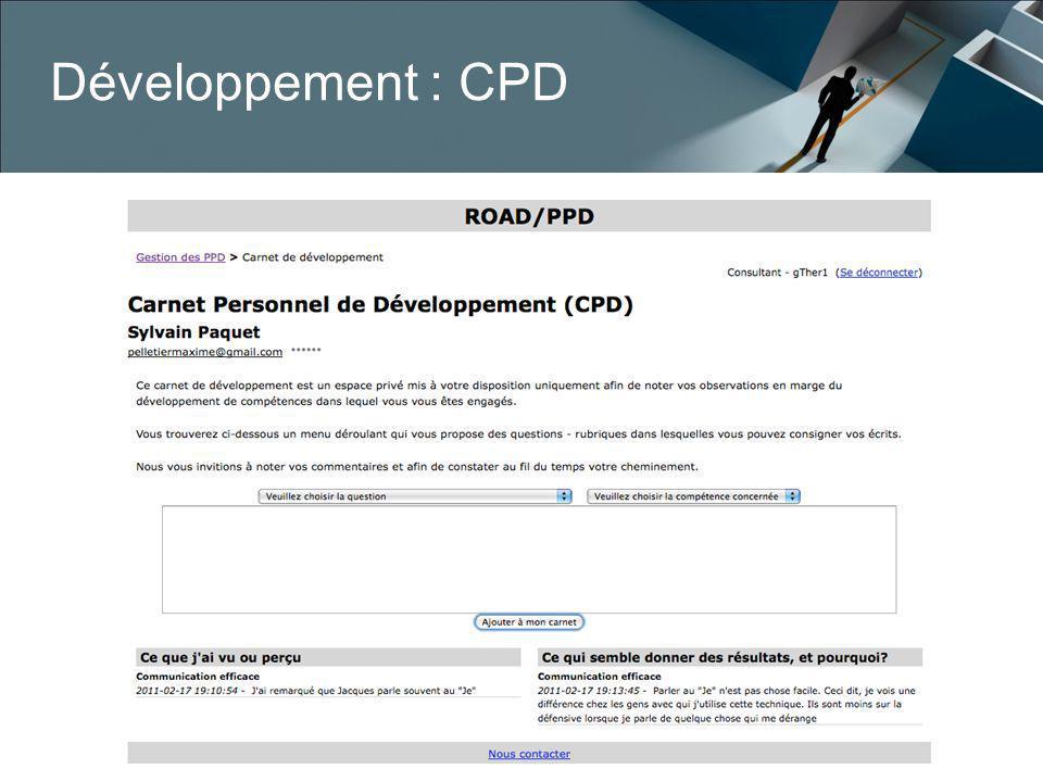 Développement : CPD
