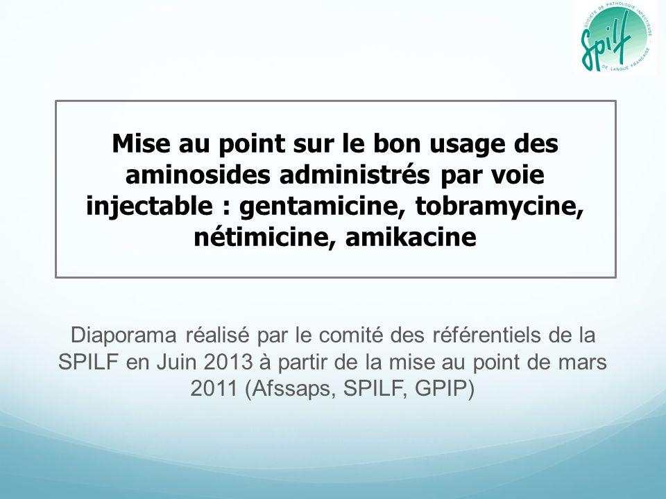 Diaporama réalisé par le comité des référentiels de la SPILF en Juin 2013 à partir de la mise au point de mars 2011 (Afssaps, SPILF, GPIP) Mise au poi