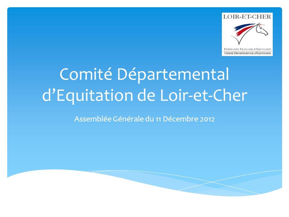 Comité Départemental dEquitation de Loir-et-Cher Assemblée Générale du 11 Décembre 2012