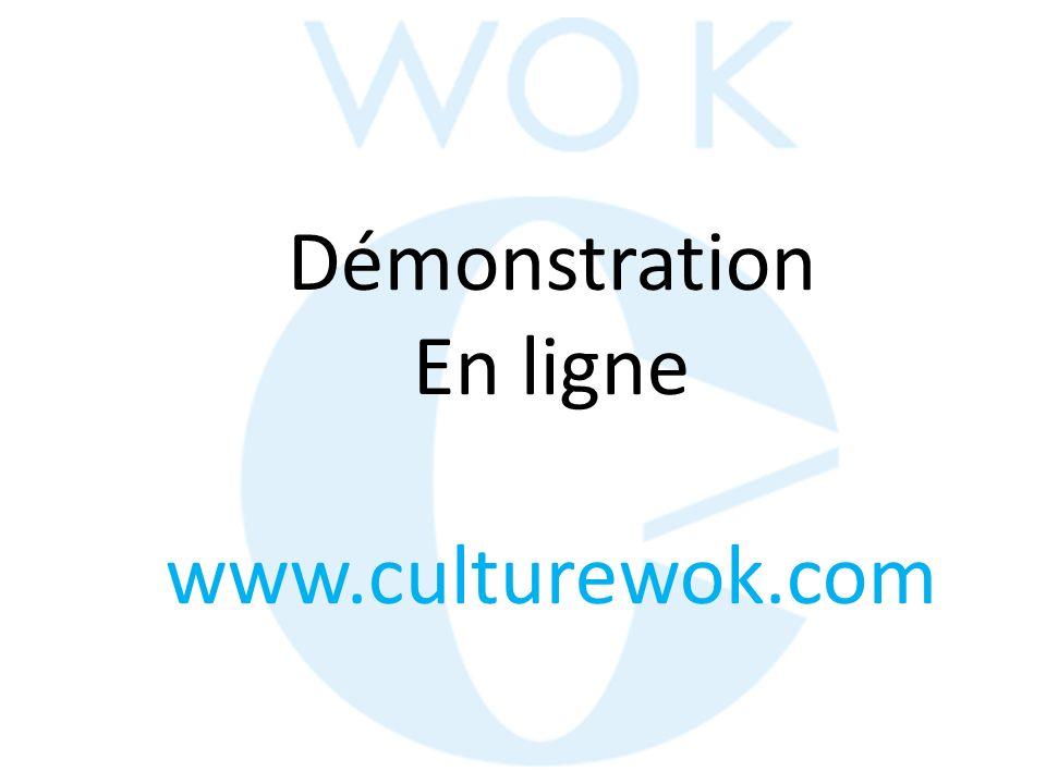 Démonstration En ligne www.culturewok.com