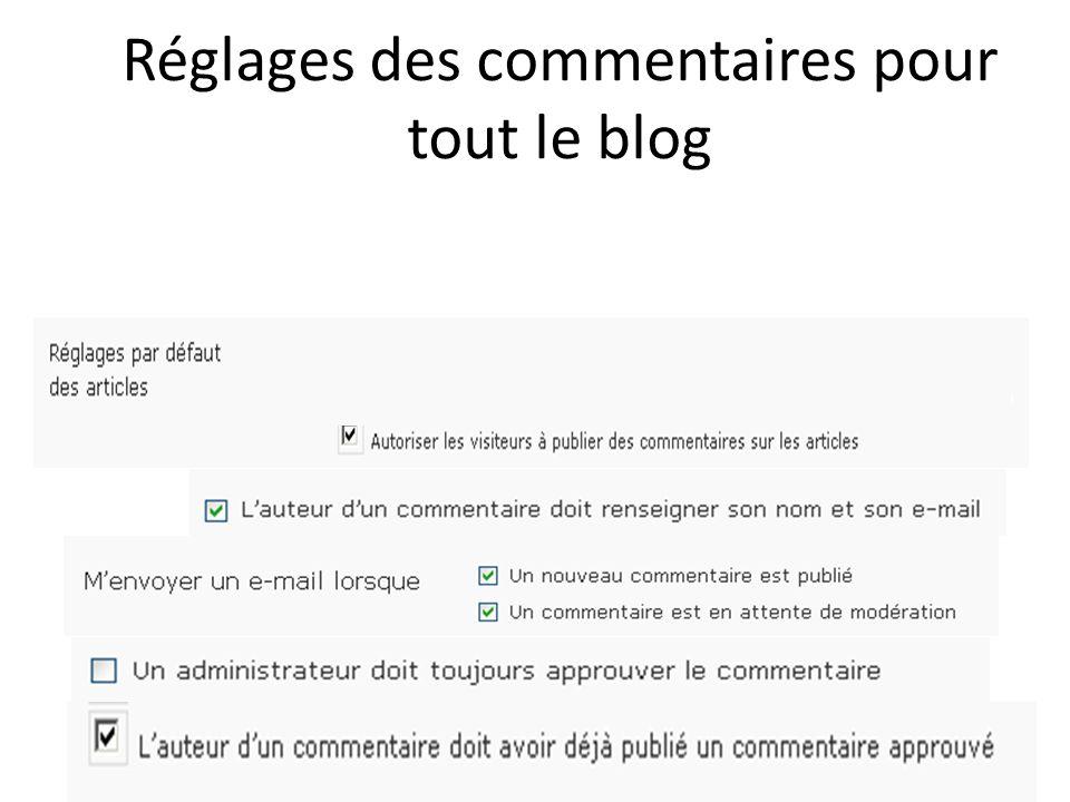 Réglages des commentaires pour tout le blog 35