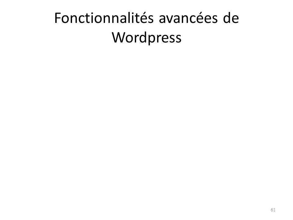 Fonctionnalités avancées de Wordpress 61