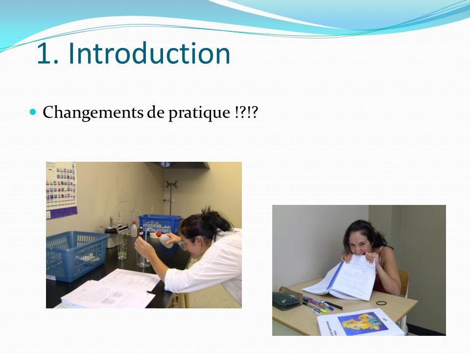 1. Introduction Changements de pratique !?!?
