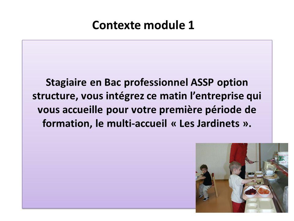 Stagiaire en Bac professionnel ASSP option structure, vous intégrez ce matin lentreprise qui vous accueille pour votre première période de formation,