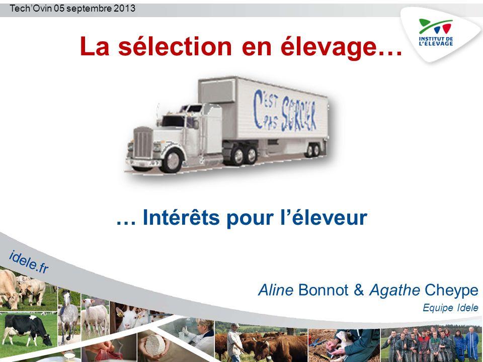 TechOvin, 05 septembre 2013 OVALL: exemple Bilan Technique Ovin 12 Eléments de comparaisons par rapport à la campagne précédente et par rapport aux autres éleveurs !