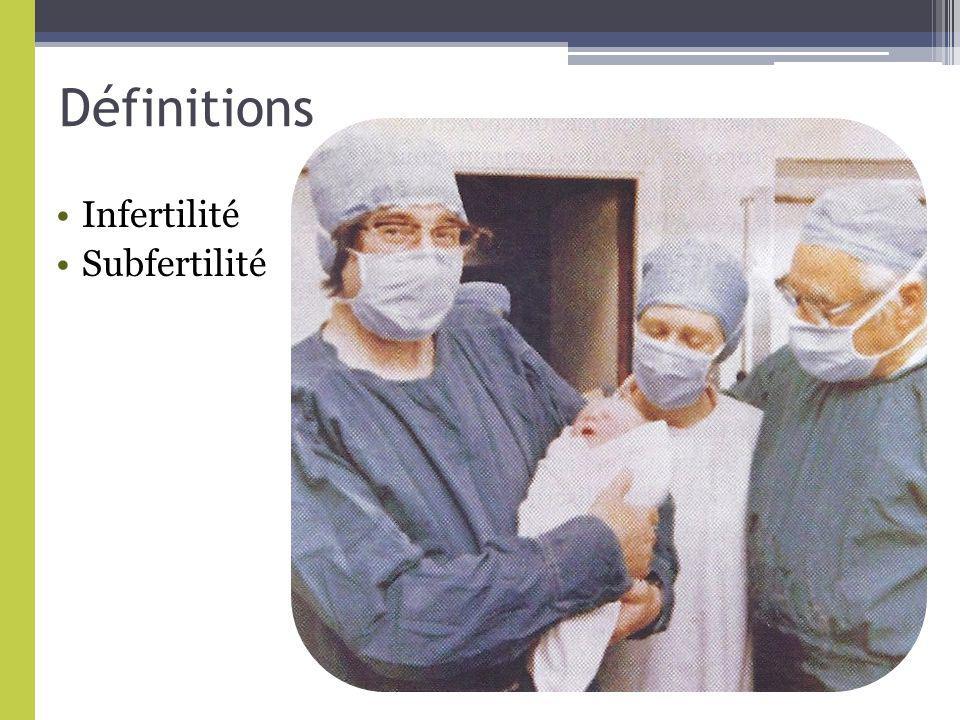 Définitions Infertilité Subfertilité
