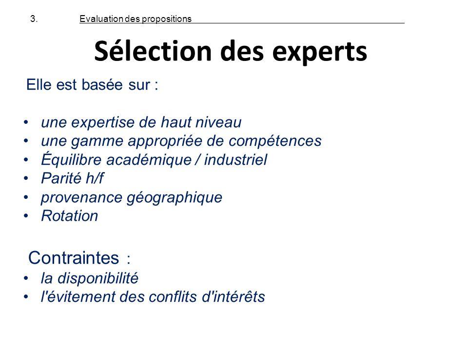 Elle est basée sur : une expertise de haut niveau une gamme appropriée de compétences Équilibre académique / industriel Parité h/f provenance géograph