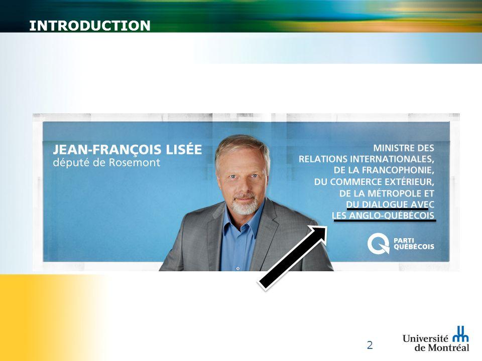 3 « Faites-leur sentir quils constituent une richesse pour nous tous et quils sont membres à part entière de la nation québécoise.