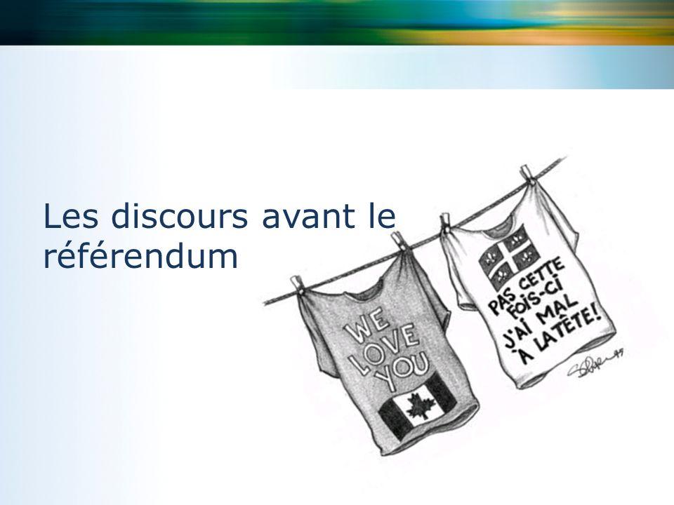Les discours avant le référendum