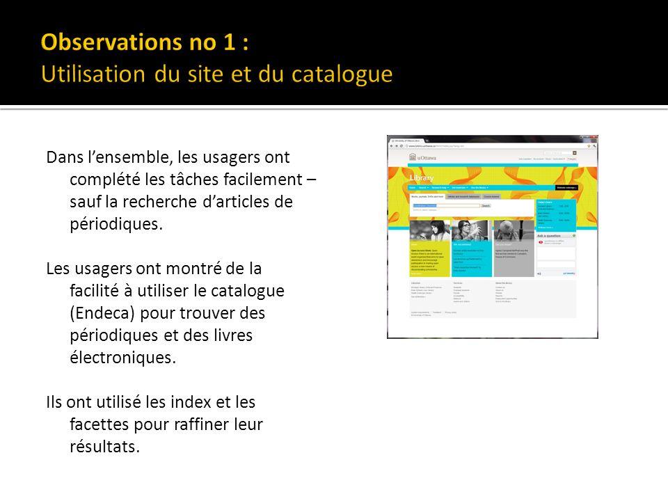 Les usagers cherchent des articles de périodiques dans le catalogue.