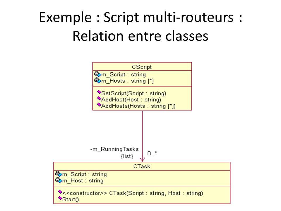 Exemple : Script multi-routeurs : Relation entre classes
