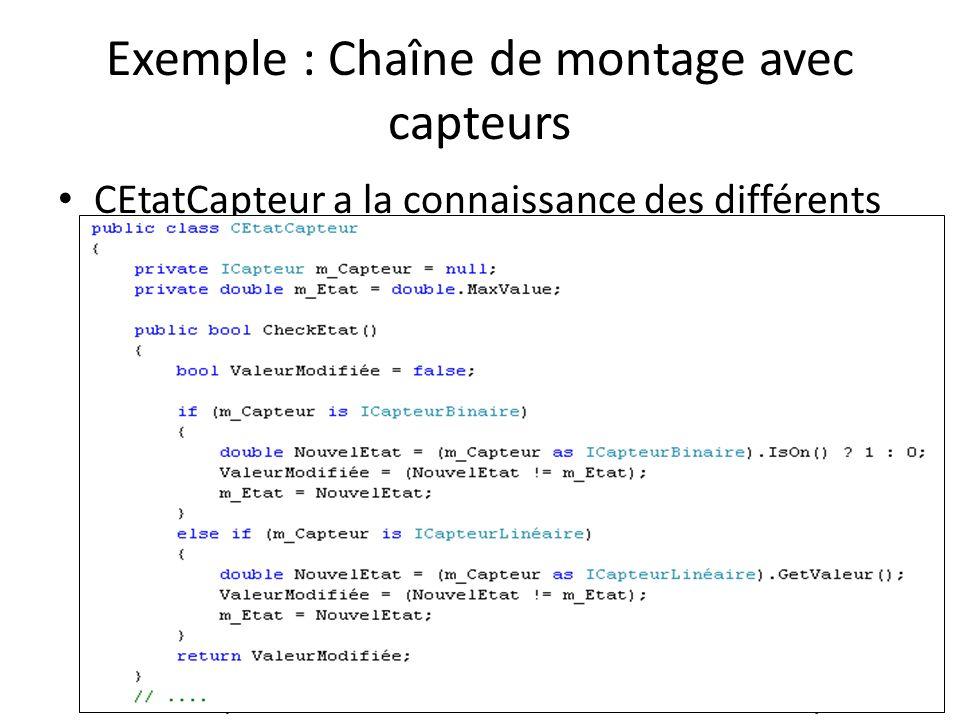CEtatCapteur a la connaissance des différents types de capteurs.