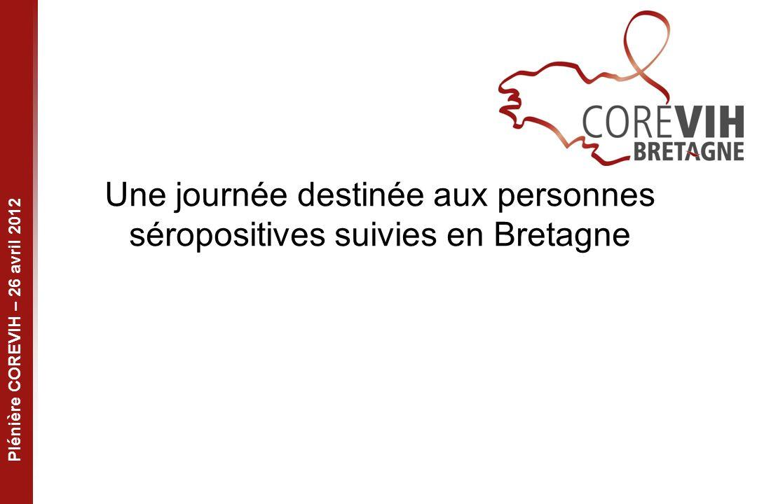 Plénière COREVIH – 26 avril 2012 Une journée destinée aux personnes séropositives suivies en Bretagne