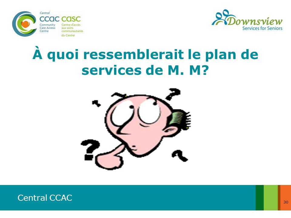 Central CCAC 30 À quoi ressemblerait le plan de services de M. M?