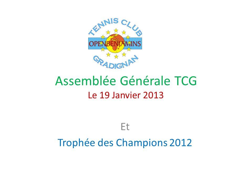 Assemblée Générale TCG Le 19 Janvier 2013 Et Trophée des Champions 2012