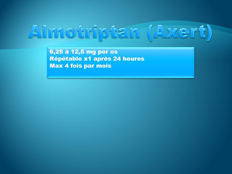 20 à 40 mg po PRN Maximum 40 mg / 24 heures 20 à 40 mg po PRN Maximum 40 mg / 24 heures