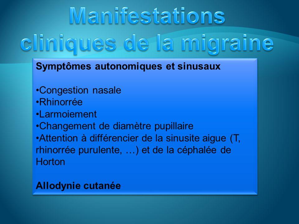 Migraine chronique: 15 jours par mois > 3 mois En labsence de surconsommation médicamenteuse Status migraineux: > 72heures Incapacitante Aura prolongé: > 1 heure < 1 semaine CTScan: normal Migraine chronique: 15 jours par mois > 3 mois En labsence de surconsommation médicamenteuse Status migraineux: > 72heures Incapacitante Aura prolongé: > 1 heure < 1 semaine CTScan: normal