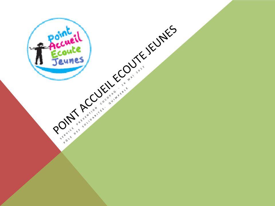 POINT ACCUEIL ECOUTE JEUNES SERVICE PRÉVENTION COCOPAQ - 16 MAI 2012 PÔLE DES SOLIDARITÉS- QUIMPERLÉ