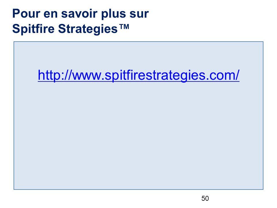 Pour en savoir plus sur Spitfire Strategies http://www.spitfirestrategies.com/ 50