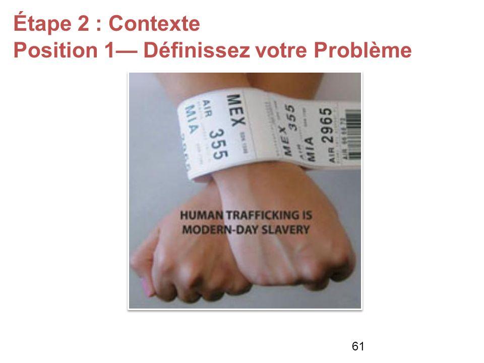 Étape 2 : Contexte Position 1 Définissez votre Problème 61