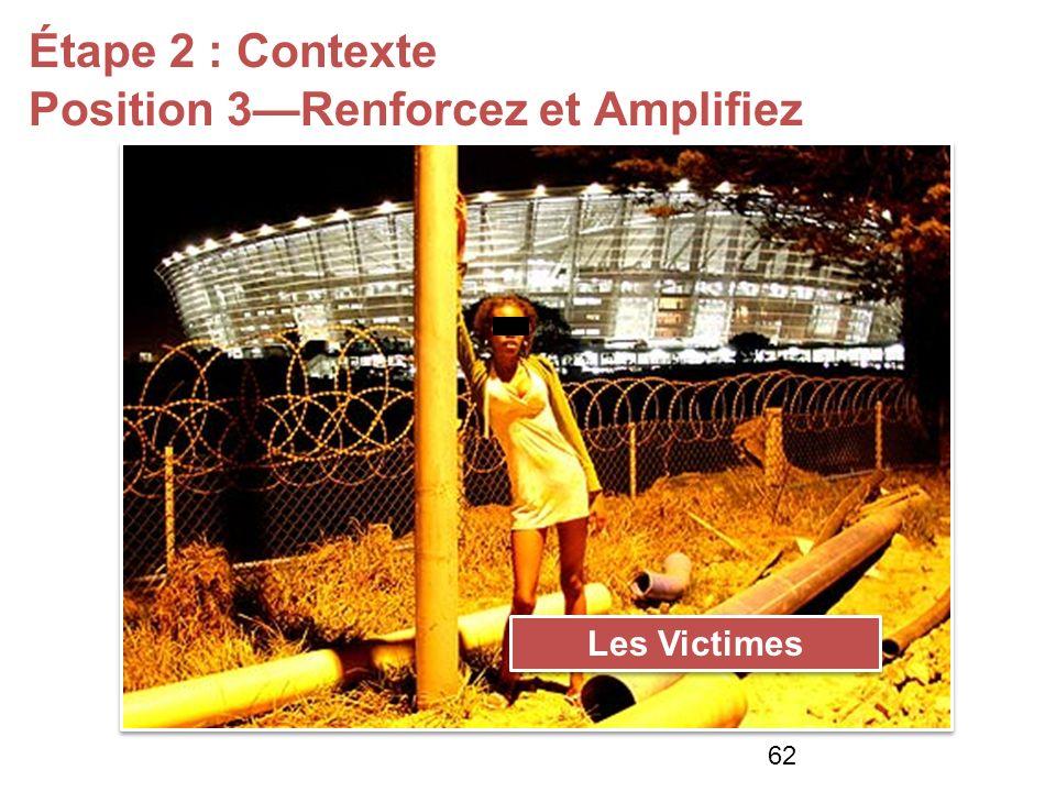 Étape 2 : Contexte Position 3Renforcez et Amplifiez Les Victimes 62