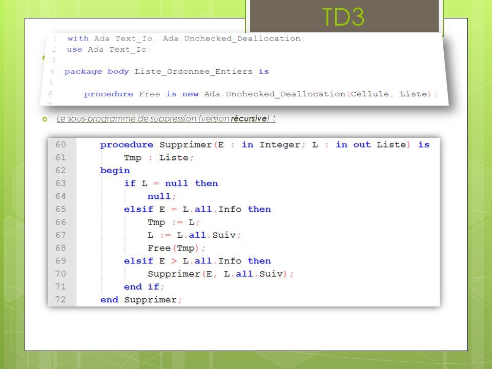 TD3 2 ème partie : paquetage générique On veut désormais manipuler des collections dobjets quelconques, dès lors qu il est possible de les lier par une relation.