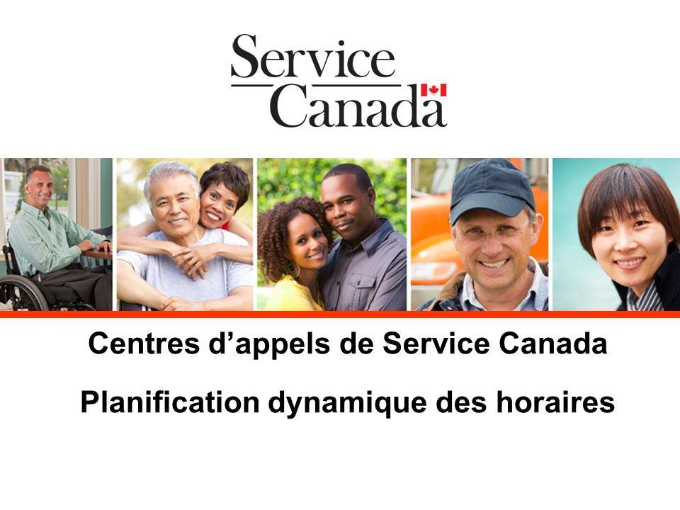 Centres dappels de Service Canada Planification dynamique des horaires