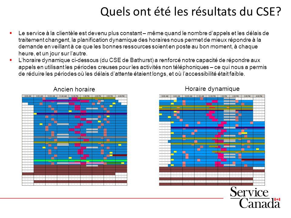 Quels ont été les résultats du CSE.