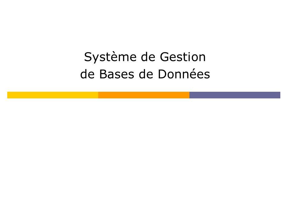 Définitions Base de données : fichier ou ensemble de fichiers permettant le stockage et l accès à des informations structurées.fichiersaccèsinformations SGBD (Système de Gestion de Base de Données) : logiciel permettant de gérer une base de données (ex : Access)