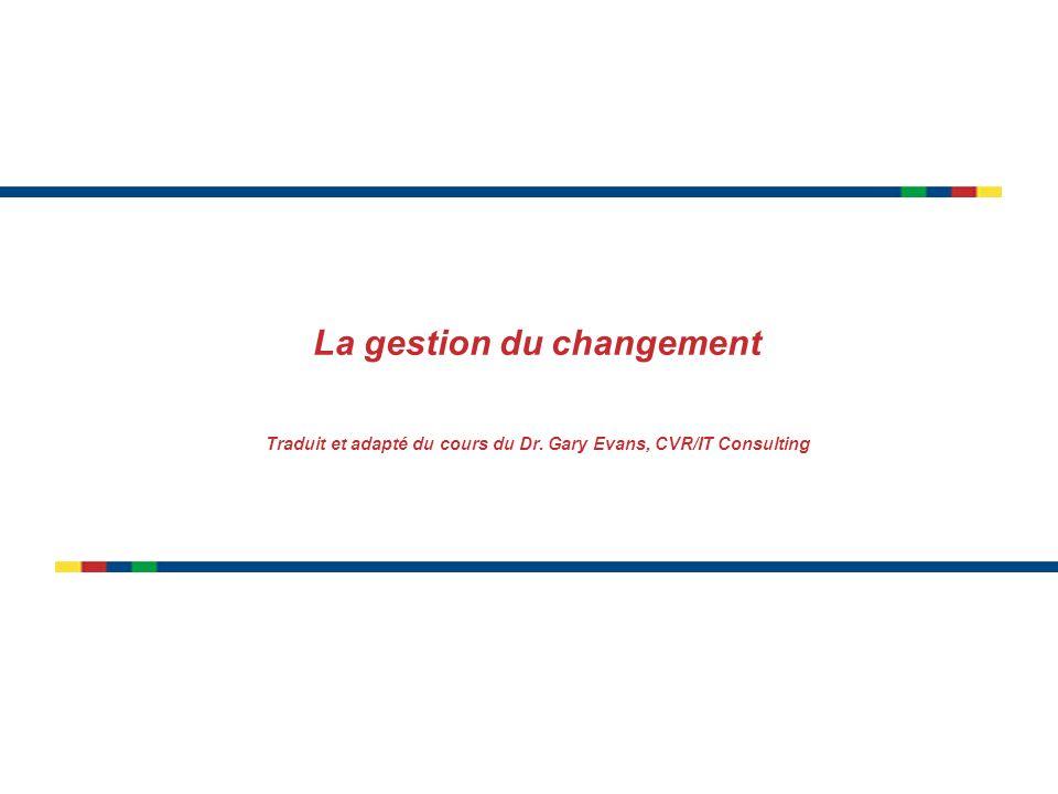 page 22 (Module L) Gérer le changement (Oracle) Mettre toutes les chances de son coté: 1.