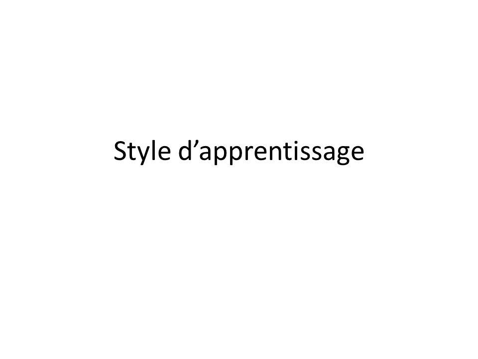 Style dapprentissage