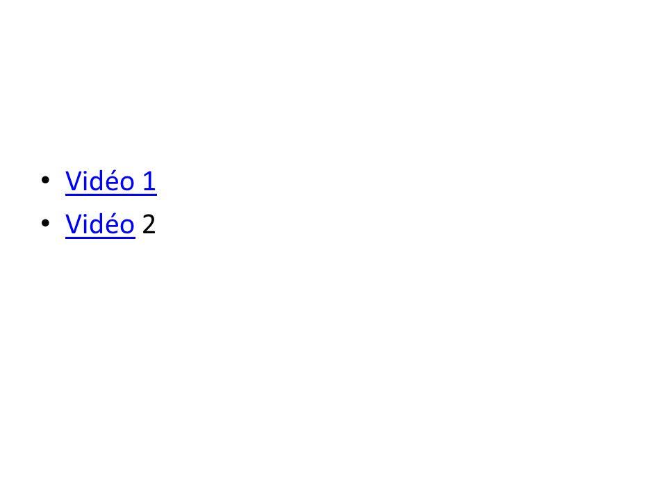 Vidéo 1 Vidéo 2 Vidéo