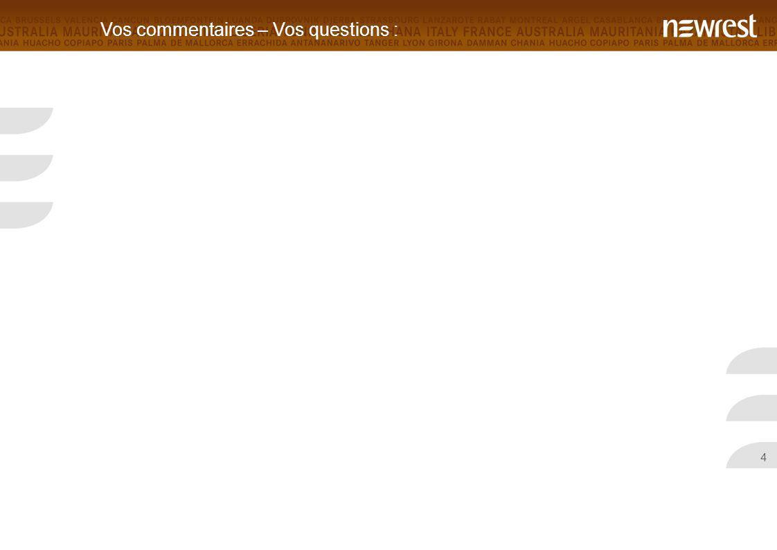 4 Vos commentaires – Vos questions :