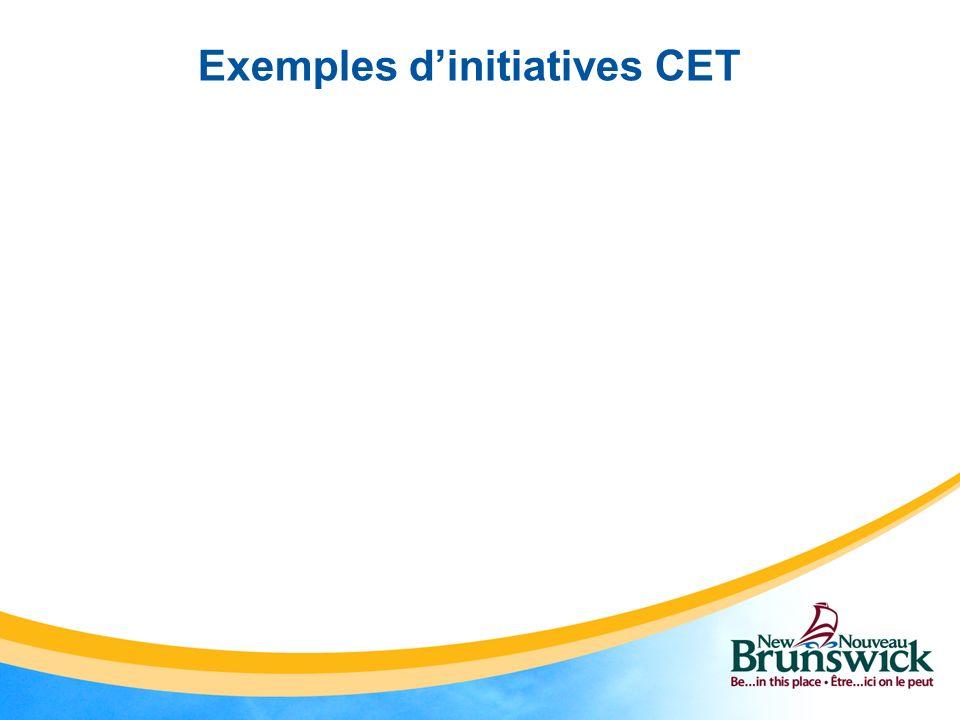 Exemples dinitiatives CET