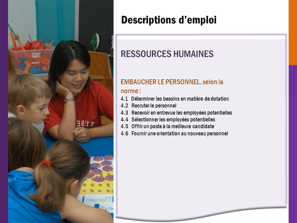 RESSOURCES HUMAINES EMBAUCHER LE PERSONNEL, selon la norme : 4.1 Déterminer les besoins en matière de dotation 4.2 Recruter le personnel 4.3 Recevoir