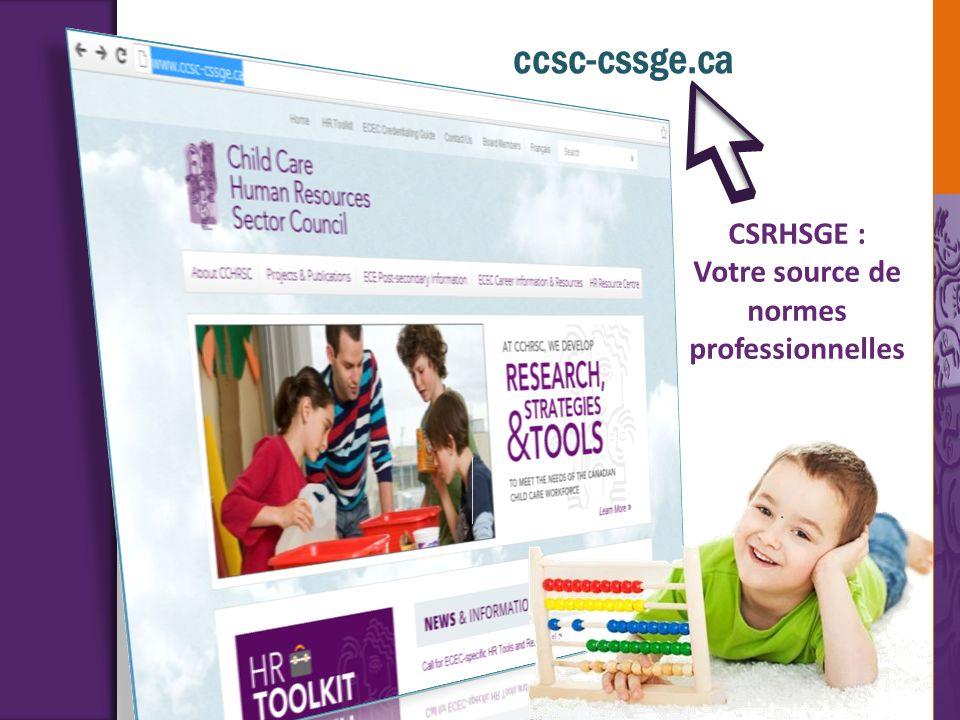 ccsc-cssge.ca CSRHSGE : Votre source de normes professionnelles