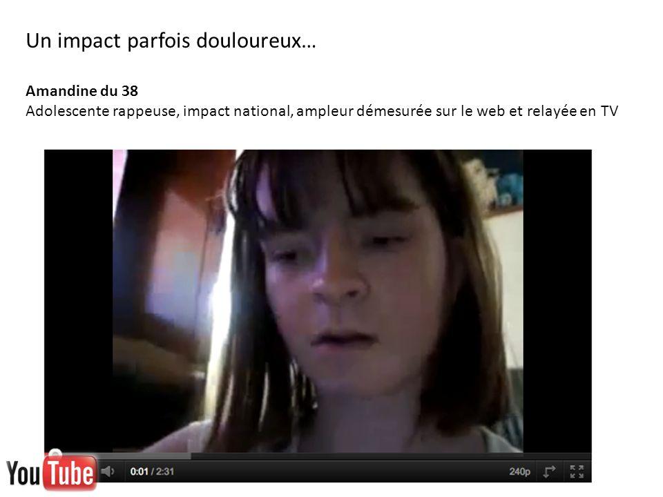 Un impact parfois douloureux… Amandine du 38 Adolescente rappeuse, impact national, ampleur démesurée sur le web et relayée en TV